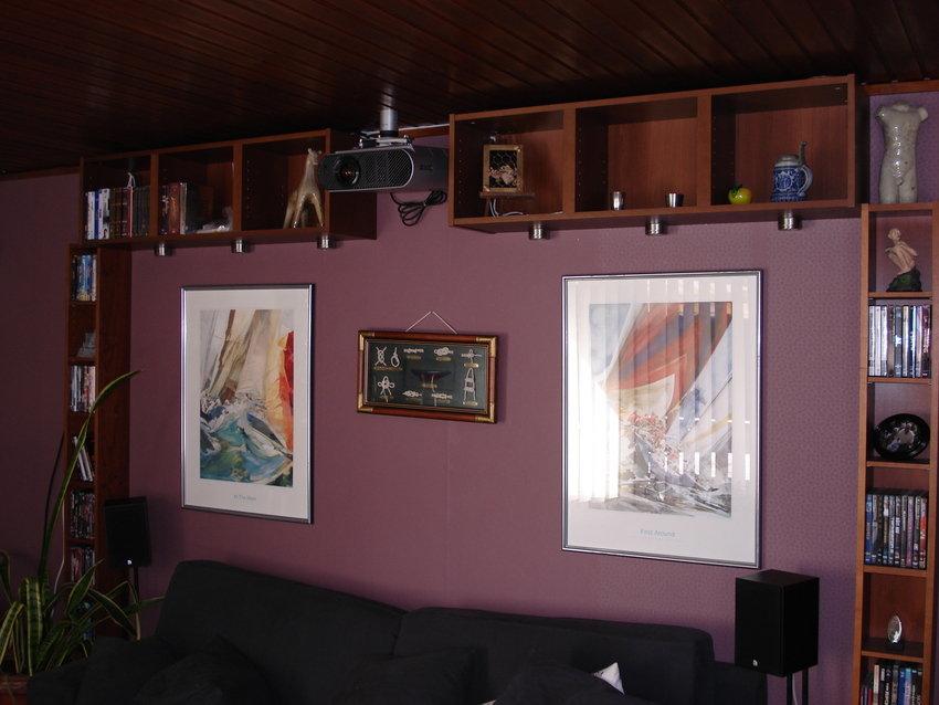 DVD hyllor och Projektor