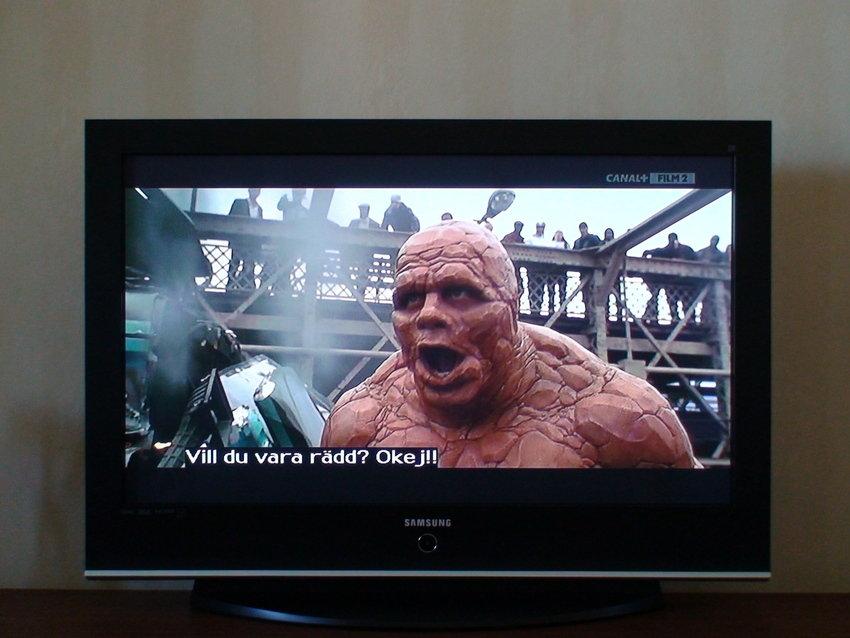 """""""Fantastic Four"""" på Canal+Film2 med Comhem:s digitala sändning."""