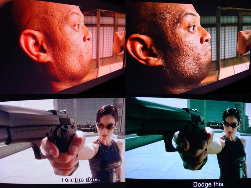 Matrix DVD vs Matrix HD DVD