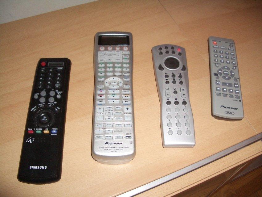 Fjärrkontroller följer tyvärr med varje apparat...