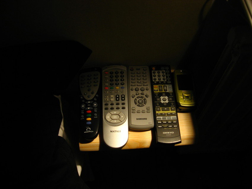 Fjärrkontroller, mobil och mp3
