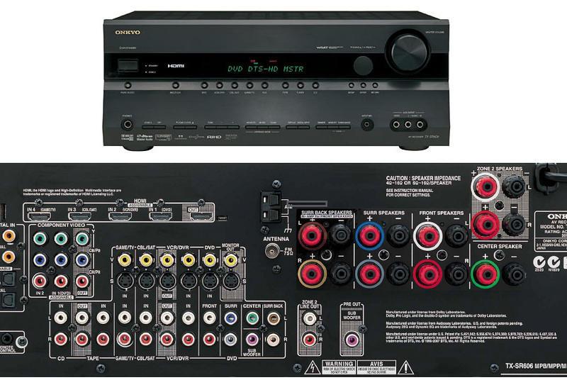 Bilder på Onkyo TX-SR606 Surroundförstärkare