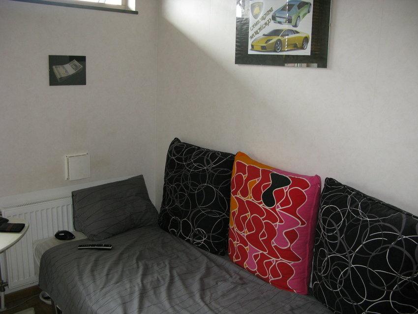 Sängen som också används som soffa