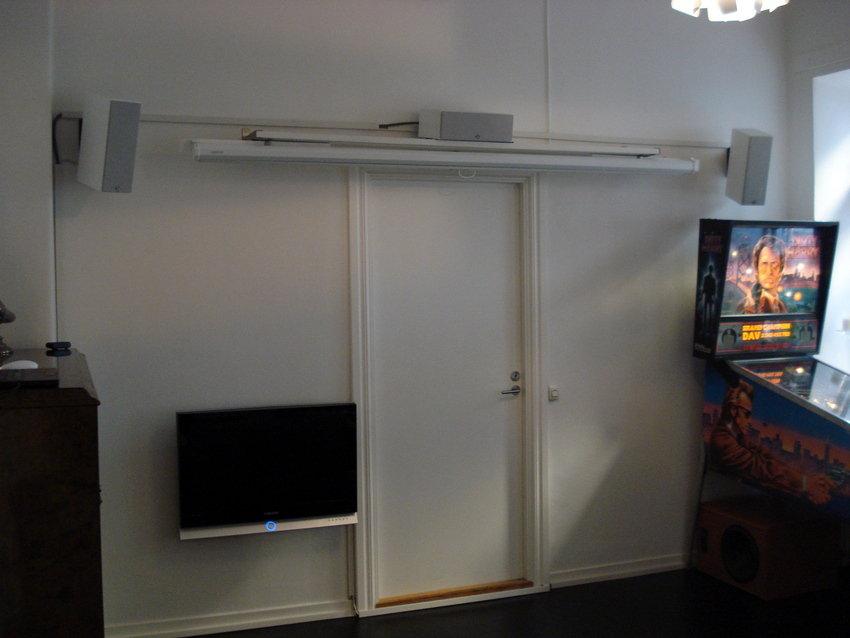 Rätt skönt med assymetriks TV-placering också
