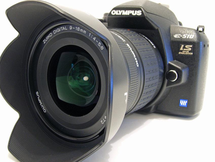 Olympus E-510 och Olympus ZD 9-18mm