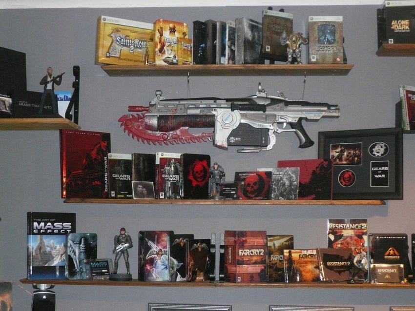 Uppdaterad vi mot bakre väggen. Gears of War dominerar !!