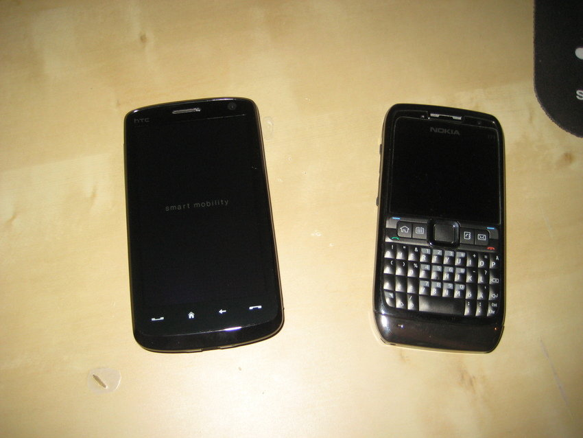 HTC HD + Nokia E71