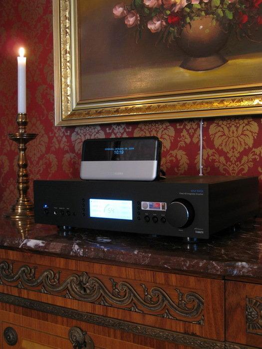 Cambridge Azur 840 v2 samt Logitech Squeezebox Classic.