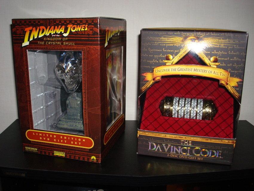 Två lite vanligare Gift sets, Indiana Jones och Da Vinci Koden.