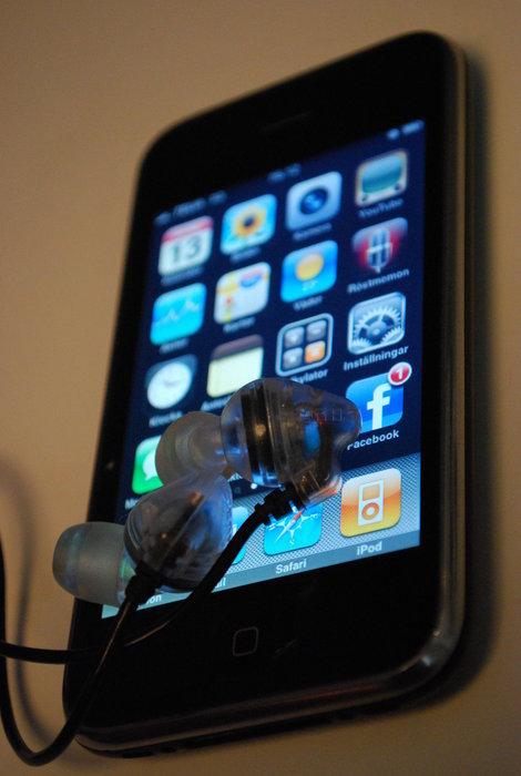 iphone 3g och shure lurar