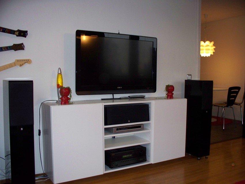 Ny tv och ny tvbänk