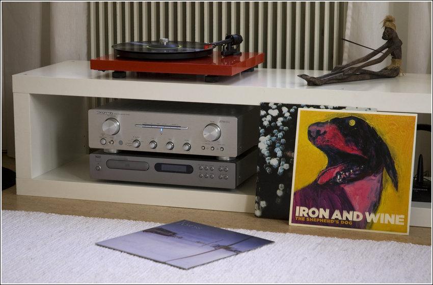 Varm Marantz tillsammans med vinyl