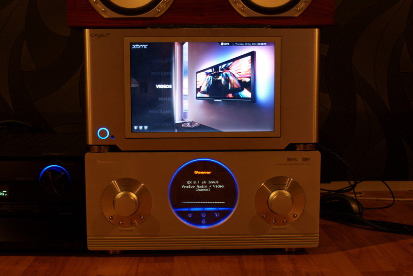 provkör xbmc med Touchscreen