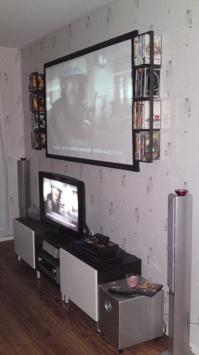 Gamla setupen i nya lägenheten :)