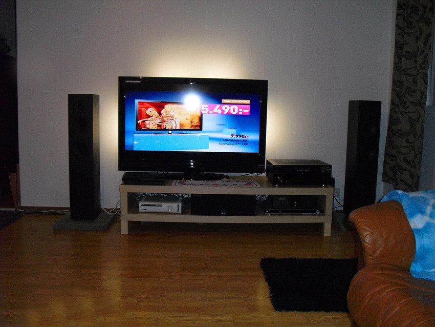 LED belysning bakom tv:n