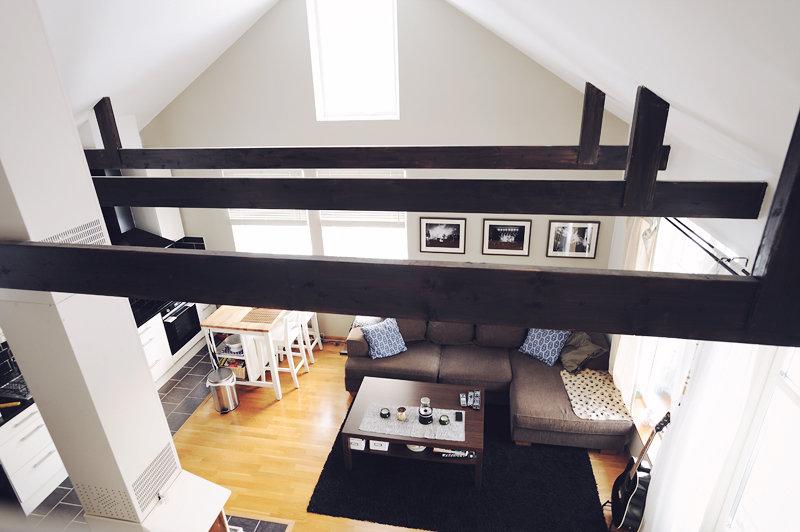 Vy från loftet