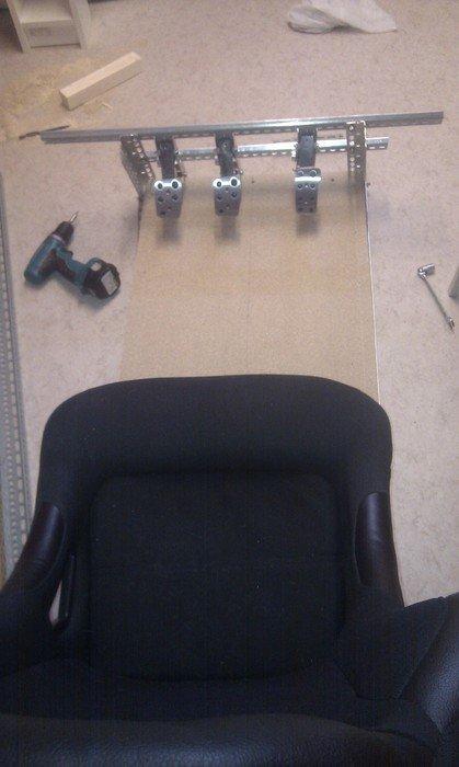 Provmontering av pedaler