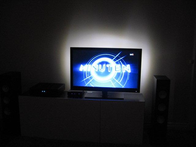 Belysning bakom Tv!