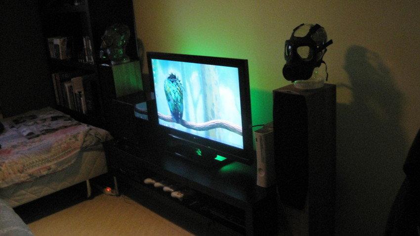 Avstånd från soffa till TV = ca två meter