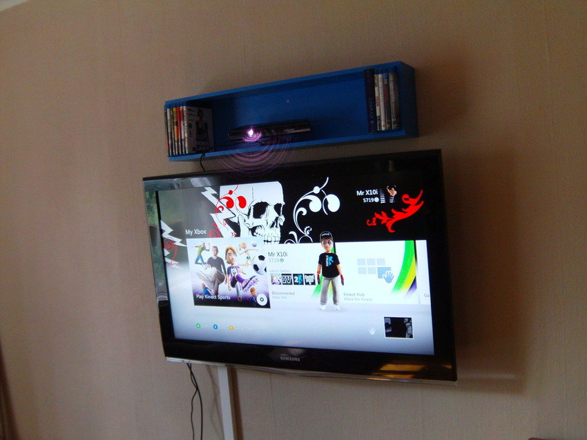 Fixat så att man syns när man spelar Kinect :D