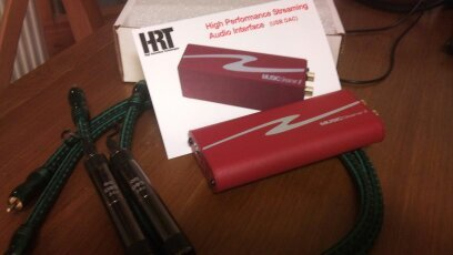 HRT Music Streamer 2011 USB DAC med Audioquest Jaguar RCA Kablage