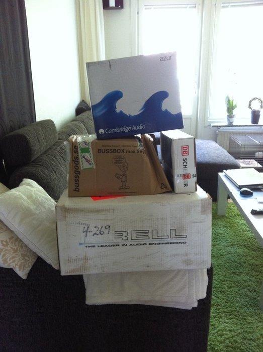 Massa paket idag på min födelsdag!!