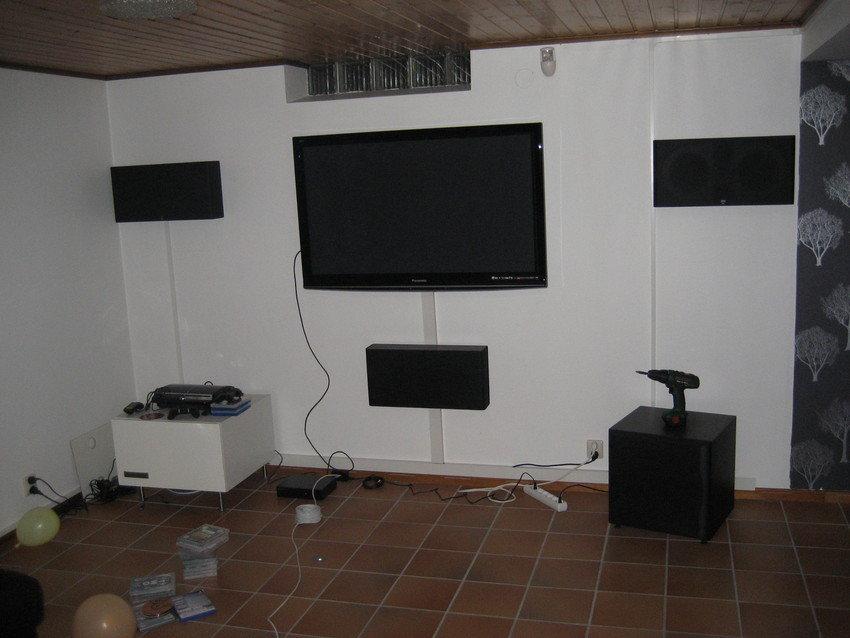 Setup innan uppgraderingen till projektorn