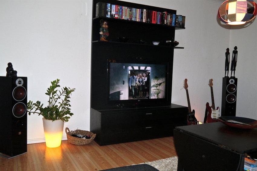Tv:n från soffan.