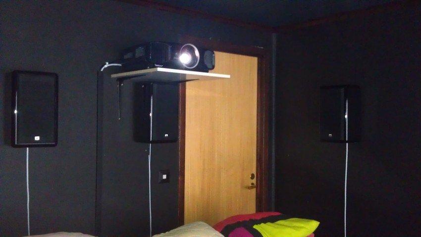 Så här ser det ut bak i rummet :)