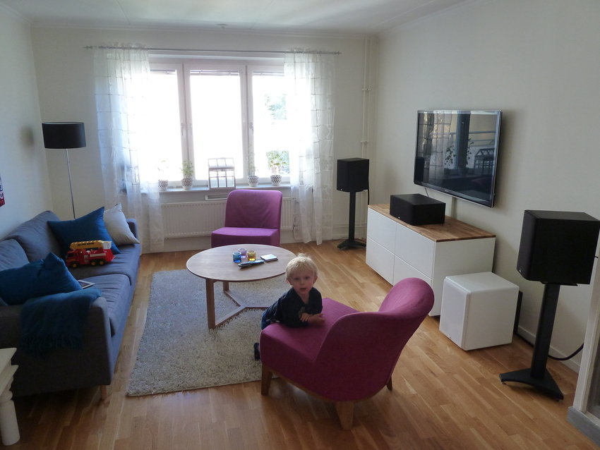 Vardagsrum inkl treåring