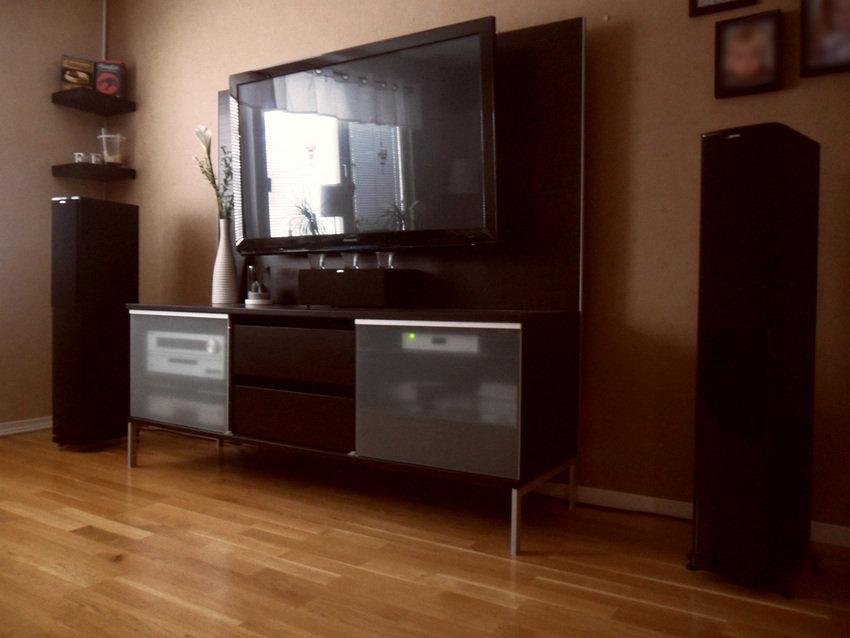 TV hörnan med tillhörande bänk
