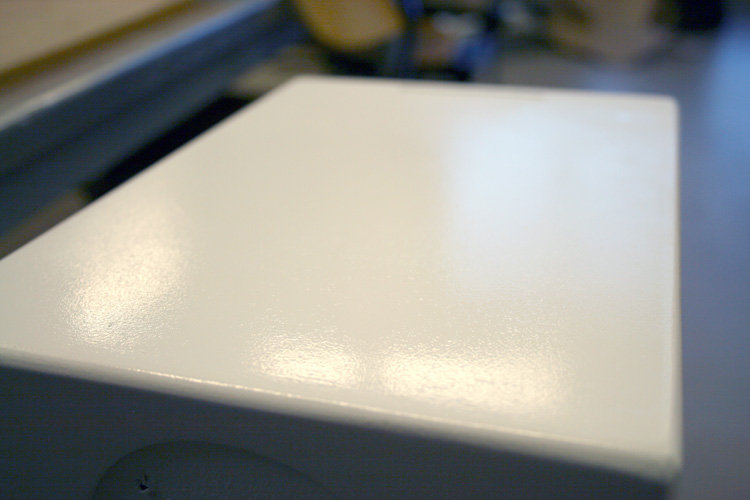 Closeup av lackningen