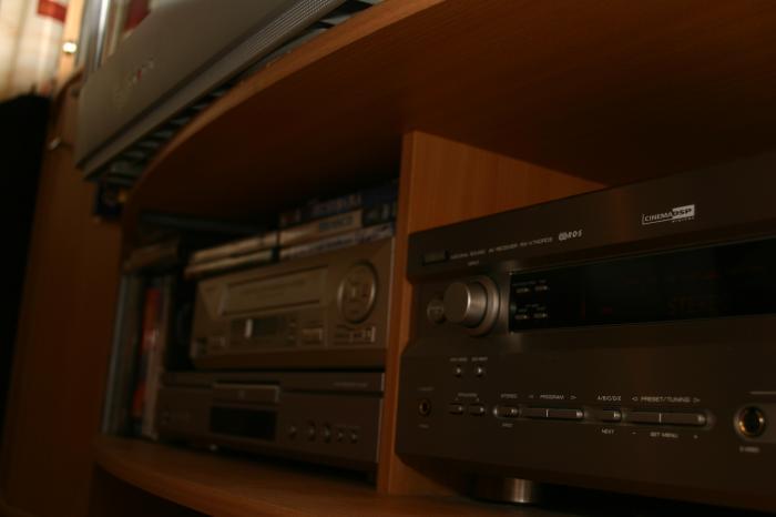 Reciever, DVD och VHS