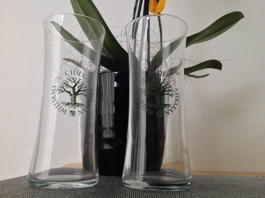 Cider glas jag fått men är helt oanvända ännu ..foto Iphone 5