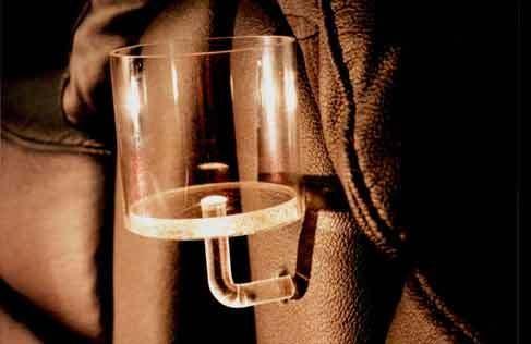 Belyst kopphållare