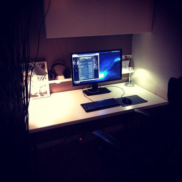 Ny skärm och nytt skrivbord