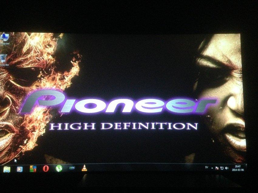 Första uppstarten med pioneer