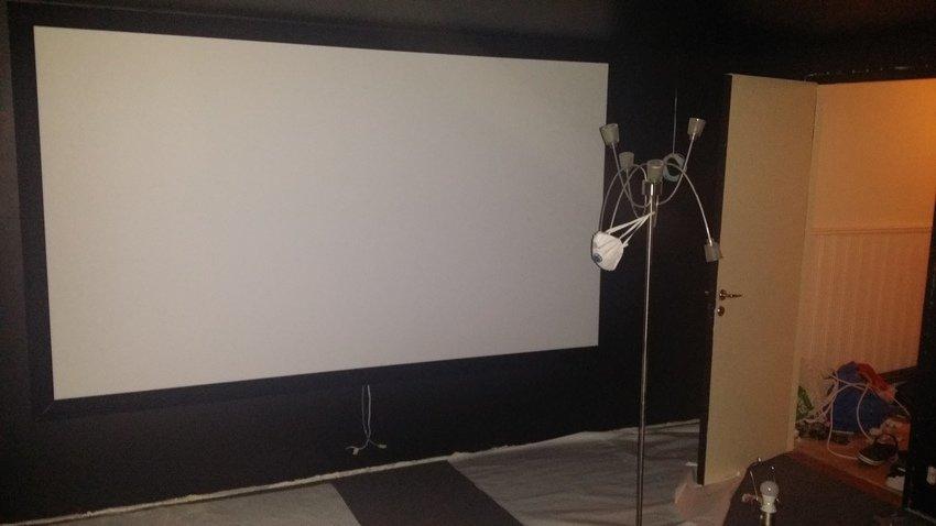 Kingpin velvet framed screen vfs270 16:9 117 tum