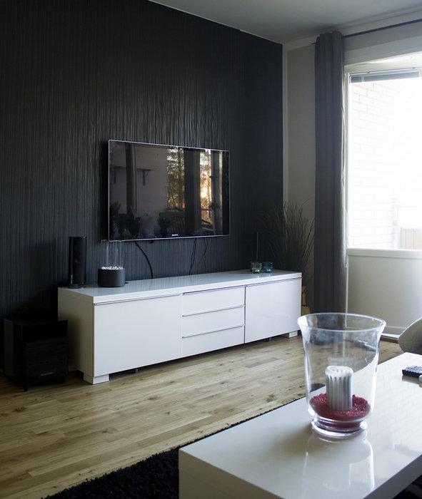 TVn på väggen
