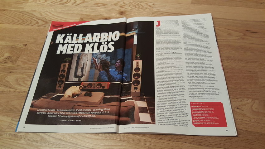 Hemma Hos-reportage i Hemmabiotidningen
