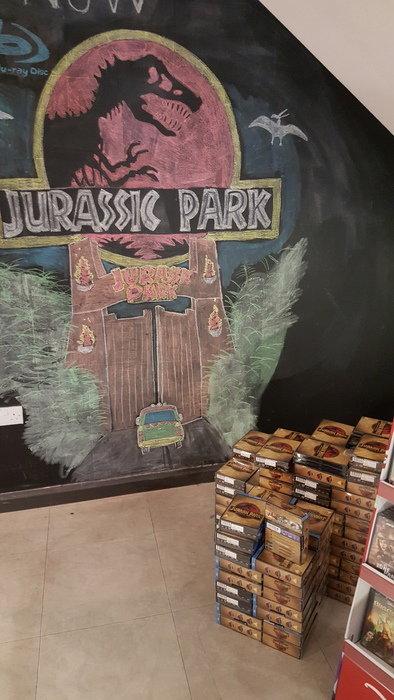 Jurassic Park konst på HMV!