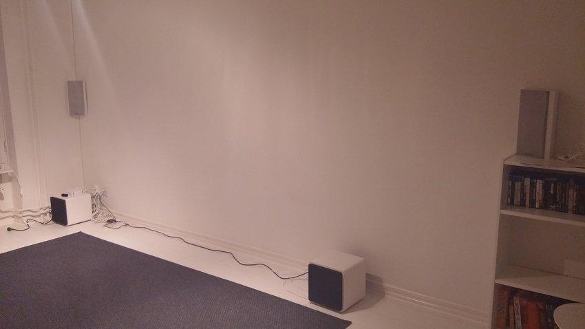 Vardagsrummet TV-vägg