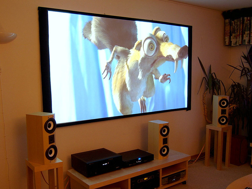 Jag provar DVI (HDMI) bild via projektorn för första gången