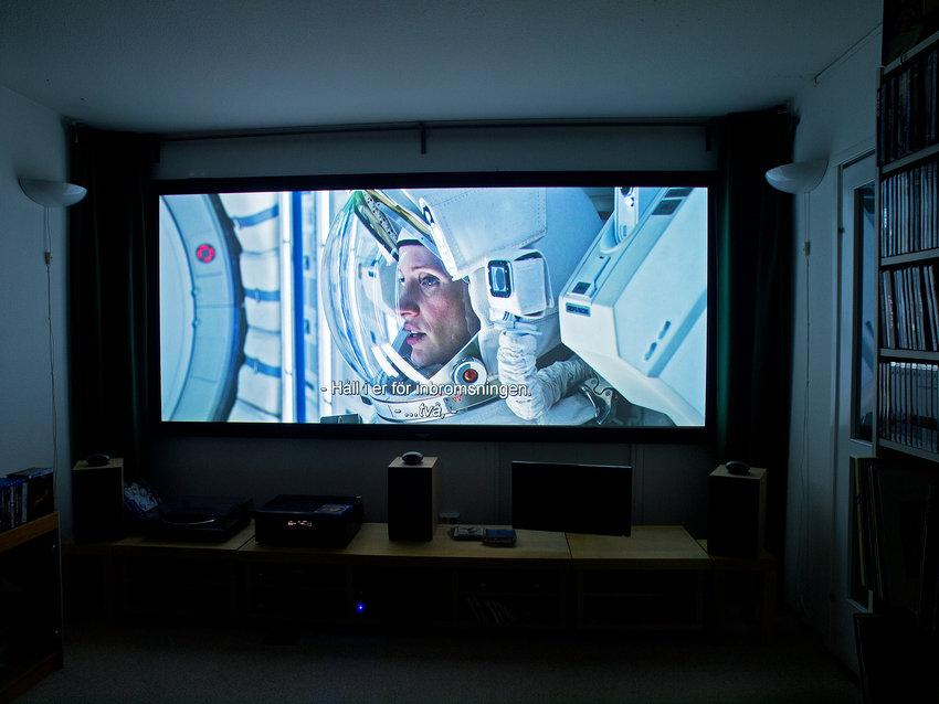 Filmen som visas är The Martian