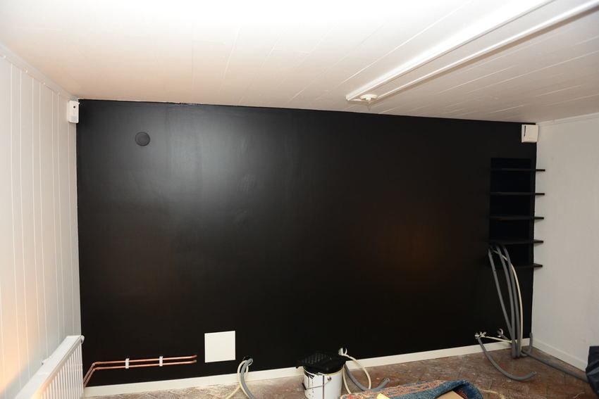 väggen målad