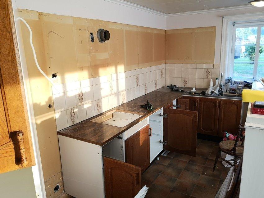 Köket är på gång att monteras ner