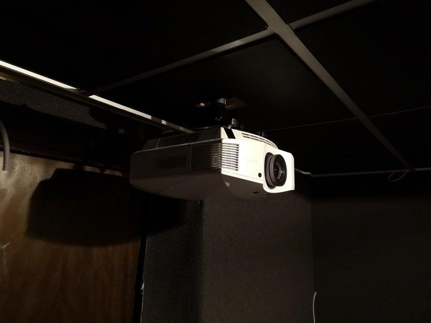 Projektorn på plats