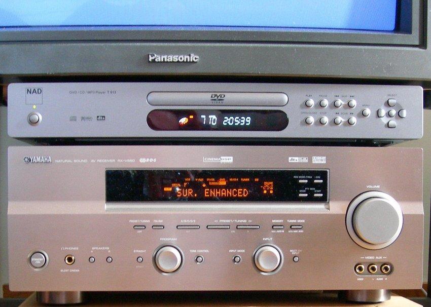 Reciever, DVD & lite av Tv:n