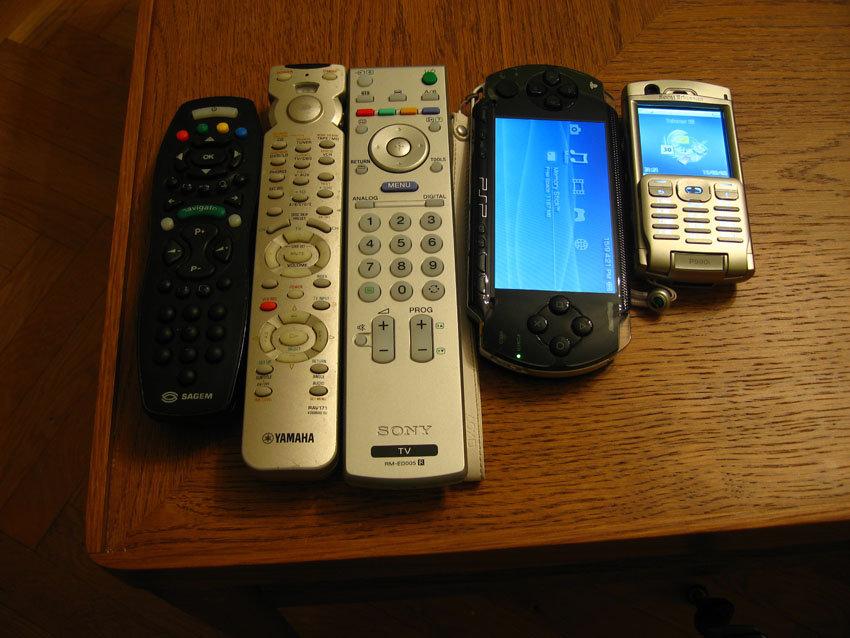 Fjärrkontroller, PSP och mobilen