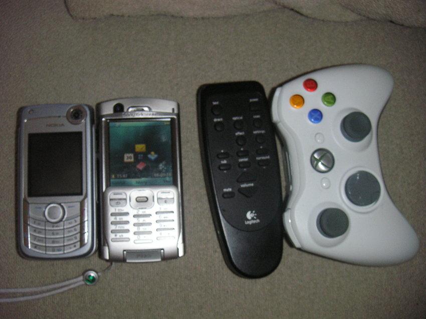 Nokia 6680, P990i, Logitech fjärr och en xbox360 kontroll